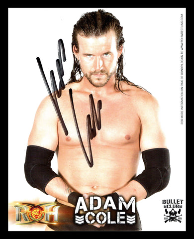 Adam Cole ROH Bullet Club Signed Photo COA