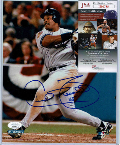 Cecil Fielder NY Yankees Signed Photo JSA COA