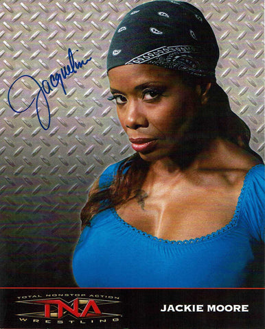 Jackie Moore (Jacqueline) Official TNA Promo Signed Photo COA