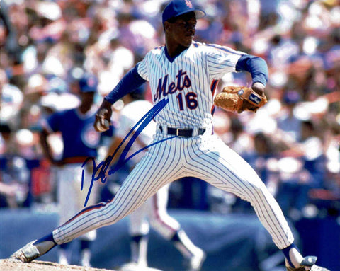 Dwight Gooden Pose 1 Signed Photo COA