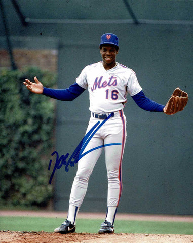 Dwight Gooden Pose 2 Signed Photo COA