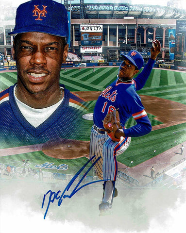 Dwight Gooden Pose 5 Signed Photo COA