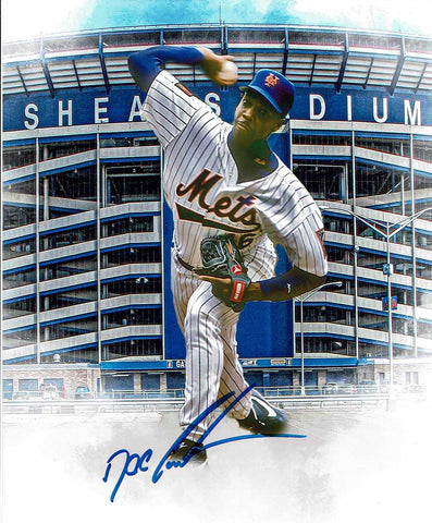 Dwight Gooden Pose 6 Signed Photo COA