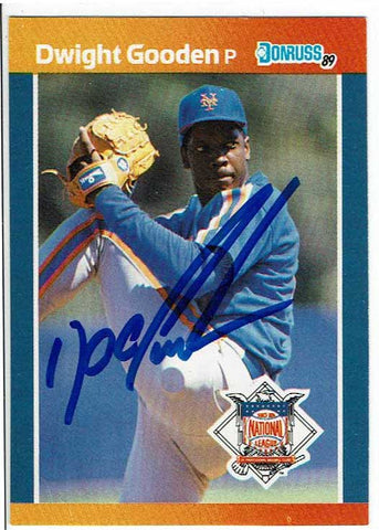 Dwight Gooden Signed 1989 Donruss All-Stars Card COA