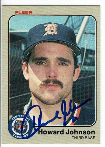 Howard Johnson Signed 1983 Fleer Rookie Card COA