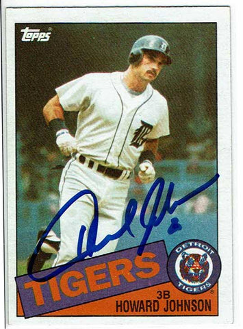 Howard Johnson Signed 1985 Topps Card COA