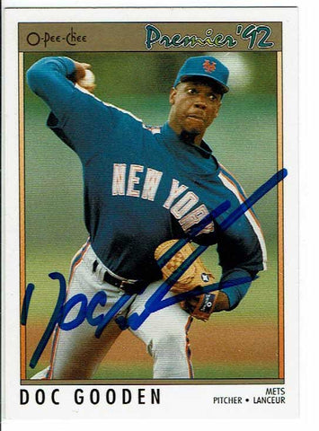 Dwight Gooden Signed 1992 O-Pee-Chee Card COA