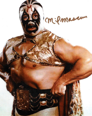 Mil Mascaras Pose 1 Signed Photo COA