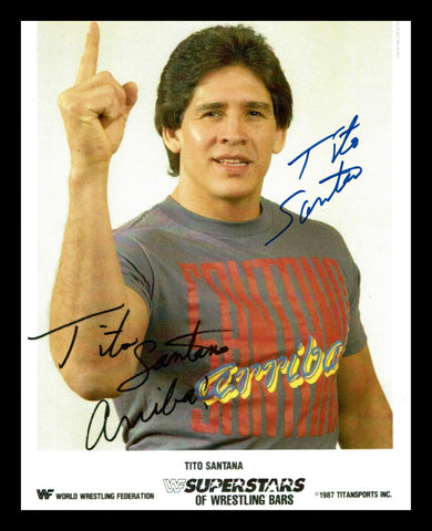 Tito Santana Pose 12 Signed Photo COA