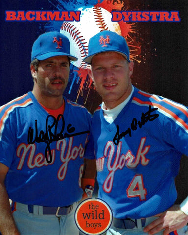 Lenny Dykstra & Wally Backman Dual Signed Photo COA