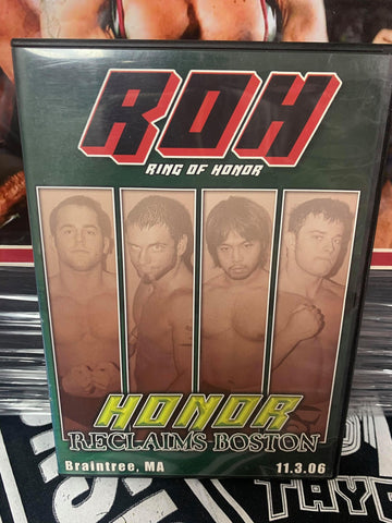 ROH Ring Of Honor Honor Reclaims Boston 11/3/06 Braintree DVD OOP