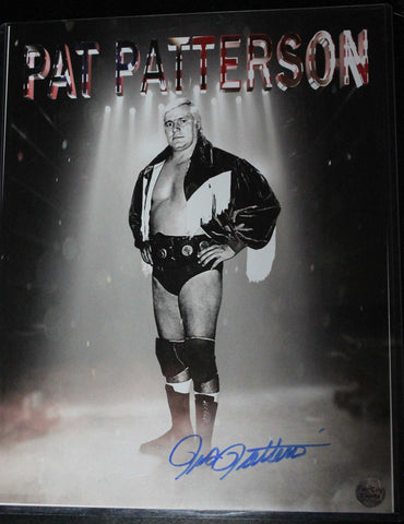 Pat Patterson 11x14 Signed Photo COA