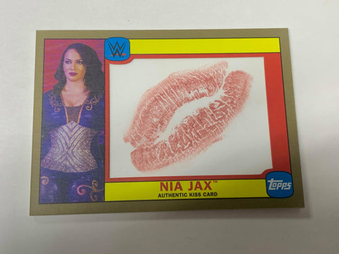 Nia Jax 2016 Topps Heritage WWE Authentic KISS #7/10 (Only 10 Made)