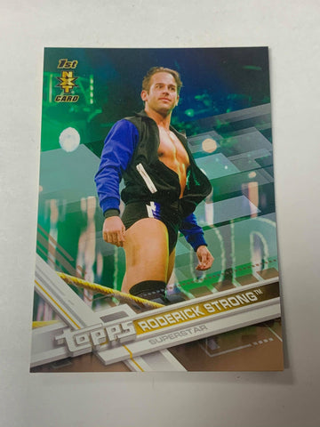Roderick Strong 2017 Topps WWE Rookie 1st NXT Card Gold