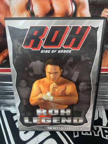 ROH Ring Of Honor Samoa Joe ROH Legend The Best of Samoa Joe Vol. 3 DVD OOP