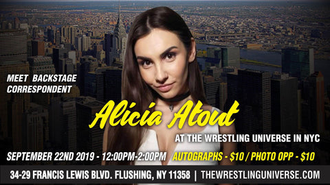 Meet Backstage Correspondent Alicia Atout Sun Sept 22nd From 12-2PM CHOOSE AUTO $10/PHOTO OPP $10