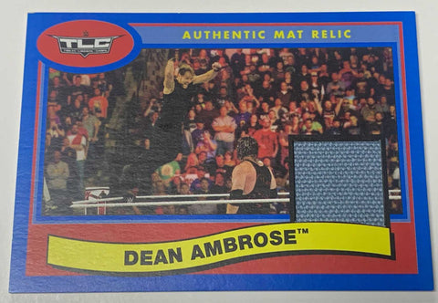 Dean Ambrose (Jon Moxley) WWE 2018 TLC Event-Used Canvas Mat Relic#/50