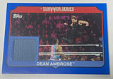 Dean Ambrose WWE 2018 Survivor Series Event-Used Canvas Mat Relic #/50