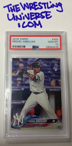 Miguel Andujar 2018 Yankees Topps Rookie Card PSA 10 GEM MINT