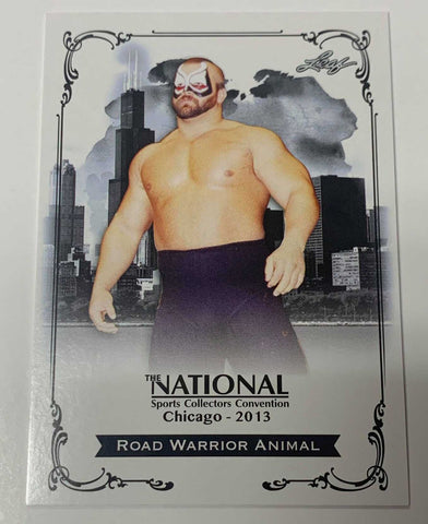 Road Warrior Animal 2013 Leaf National Sports Card Convention PROMO (Limited)