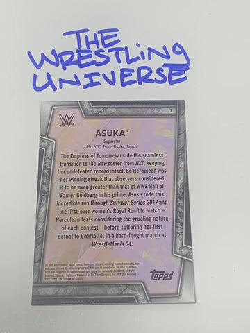 Asuka 2017 WWE Topps NXT Takeover Event-Usef Mat #/50