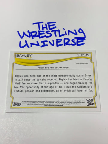 Bayley Topps 2017 NXT Takeover Event Used Mat Relic #/199