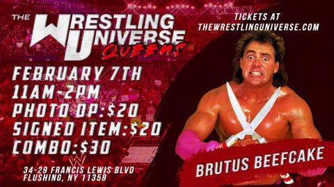 "Meet & Greet with Brutus ""The Barber"" Beefcake Sun Feb 7th from 11AM-2PM TIX NOT MAILED (CHOOSE COMBO $30/SIGNED ITEM $20/PHOTO OP $20)"