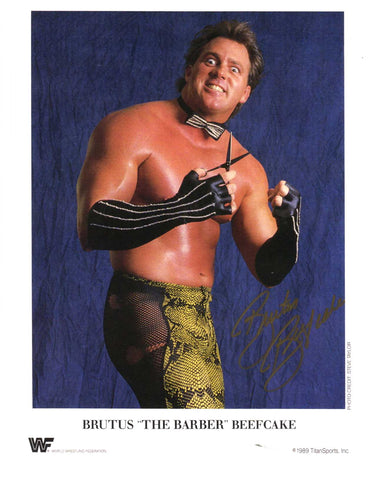 "Brutus ""The Barber"" Beefcake Signed Photo COA"