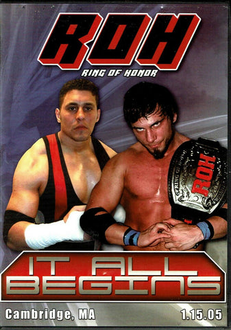 ROH Ring Of Honor It All Begins 2005 Cambridge, MA 1/15/05 DVD OOP