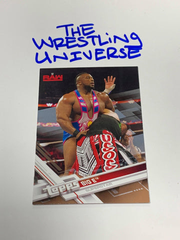 Big E WWE 2017 Topps Parallel Card #7