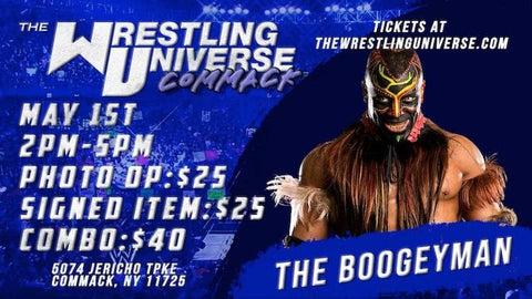 Long Island Store Meet & Greet with The Boogeyman Sat May 1st from 2-5PM TIX NOT MAILED (CHOOSE COMBO $40/AUTO $25/PHOTO OP $25)