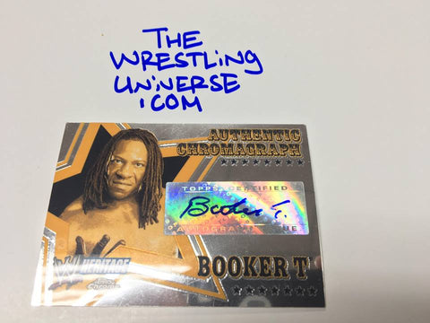 Booker T 2006 Topps Chrome Auto