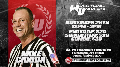 In-Store Meet & Greet with Mike Chioda Sat Nov 28th from 12-2PM TIX NOT MAILED (CHOOSE COMBO $30/SIGNED ITEM $20/PHOTO OP $20)
