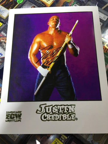 Justin Credible Signed Photo COA