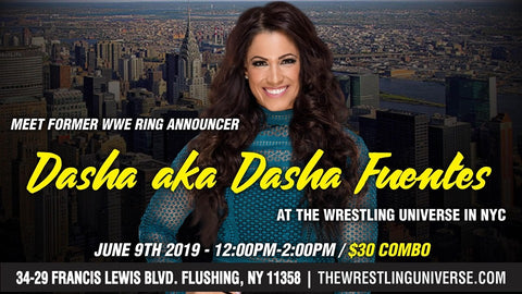 Meet Dasha (aka Dasha Fuentes) Sun June 9th from 12-2PM COMBO TICKET (TICKETS NOT MAILED)