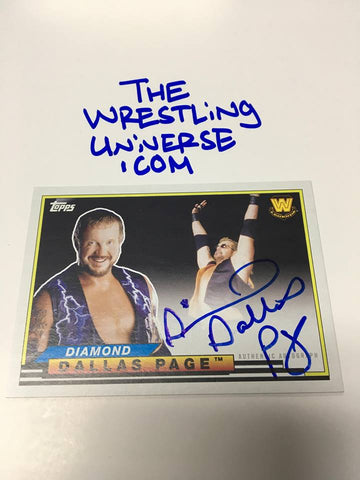 Diamond Dallas Page Auto 2018 Topps Heritage #/50