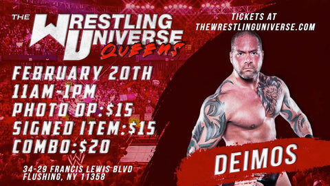 In-Store Meet & Greet with Deimos Sat Feb 20th from 11AM-1PM TIX NOT MAILED (CHOOSE COMBO $20/SIGNED ITEM $15/PHOTO OP $15)