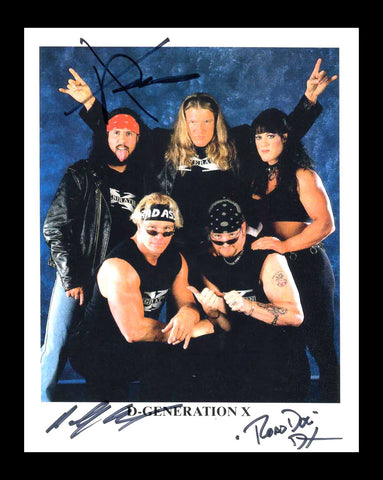 D-Generation X Billy Gunn & Road Dogg & X-Pac Triple Signed Photo COA