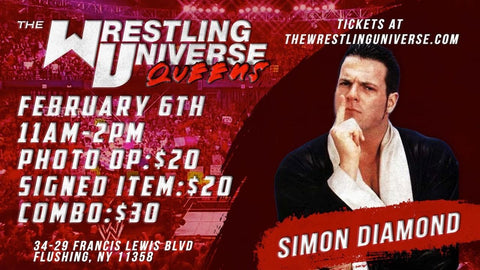 Meet & Greet with Simon Diamond Sat Feb 6th from 11AM-2PM TIX NOT MAILED (CHOOSE COMBO $30/SIGNED ITEM $20/PHOTO OP $20)