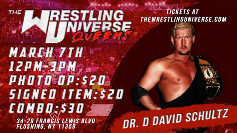 In-Store Meet & Greet with Dr. D David Schultz Sun March 7th from 12-3PM TIX NOT MAILED (CHOOSE COMBO $30/SIGNED ITEM $20/PHOTO OP $20)