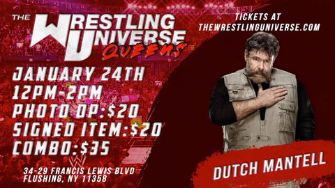 **RESCHEDULED** In-Store Meet & Greet with Dutch Mantell Sun Feb 21st TIX NOT MAILED (CHOOSE COMBO $35/SIGNED ITEM $20/PHOTO OP $20)