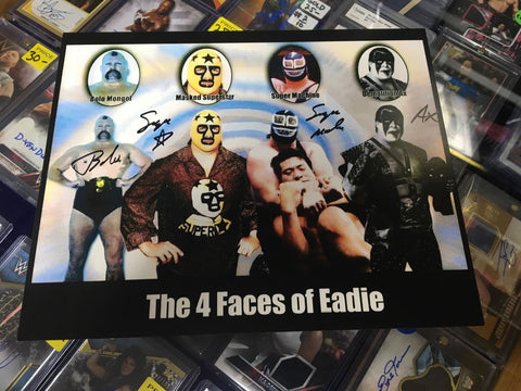 The 4 Faces of Bill Eadie (Ax, Masked Superstar) Signed Photo COA