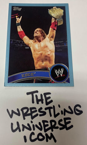 "Edge WWE 2011 Topps ""Blue Parallel"" #'ed 1858/2011"