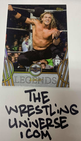 "Edge WWE 2018 Topps Legends ""Gold Parallel"" Card"