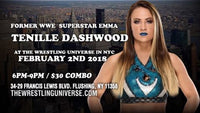 Meet Former WWE Superstar Emma Tenille Dashwood on Fri February 2nd from 6-9pm COMBO TICKET