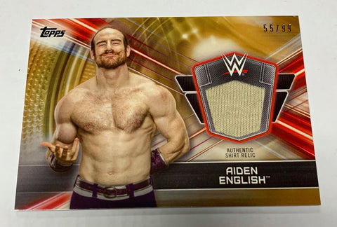 Aiden English 2019 Topps Authentic Shirt Relic #55/99