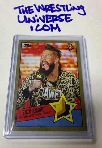 Enzo WWE NXT Topps 2015Event Used Shirt Relic #/10