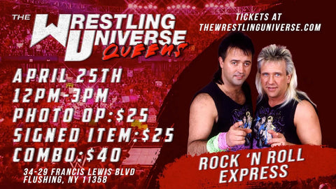 In-Store Meet & Greet with The Rock 'N' Roll Express Sun April 25th from 12-3PM (CHOOSE COMBO $40/SIGNED ITEM $25/PHOTO OP $25)