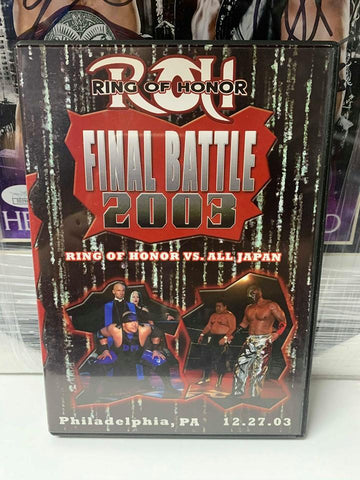 ROH Ring of Honor vs All Japan Final Battle 2003 Philadelphia 12/27/03 DVD OOP