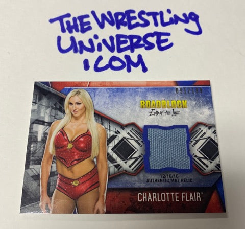 Charlotte Flair Topps 2017 Event Used Mat #/199